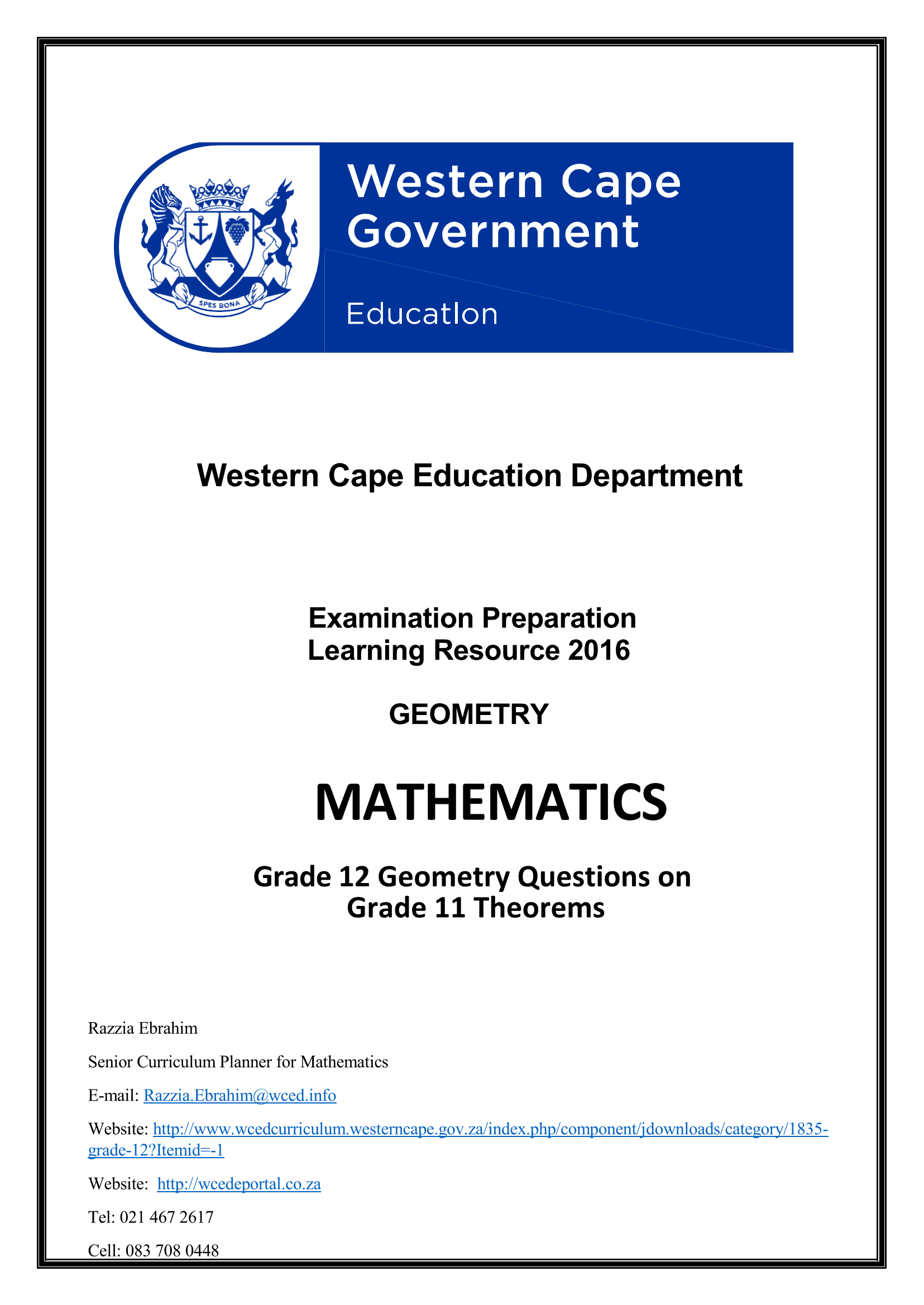 mathematics grade 11 caps exam papers