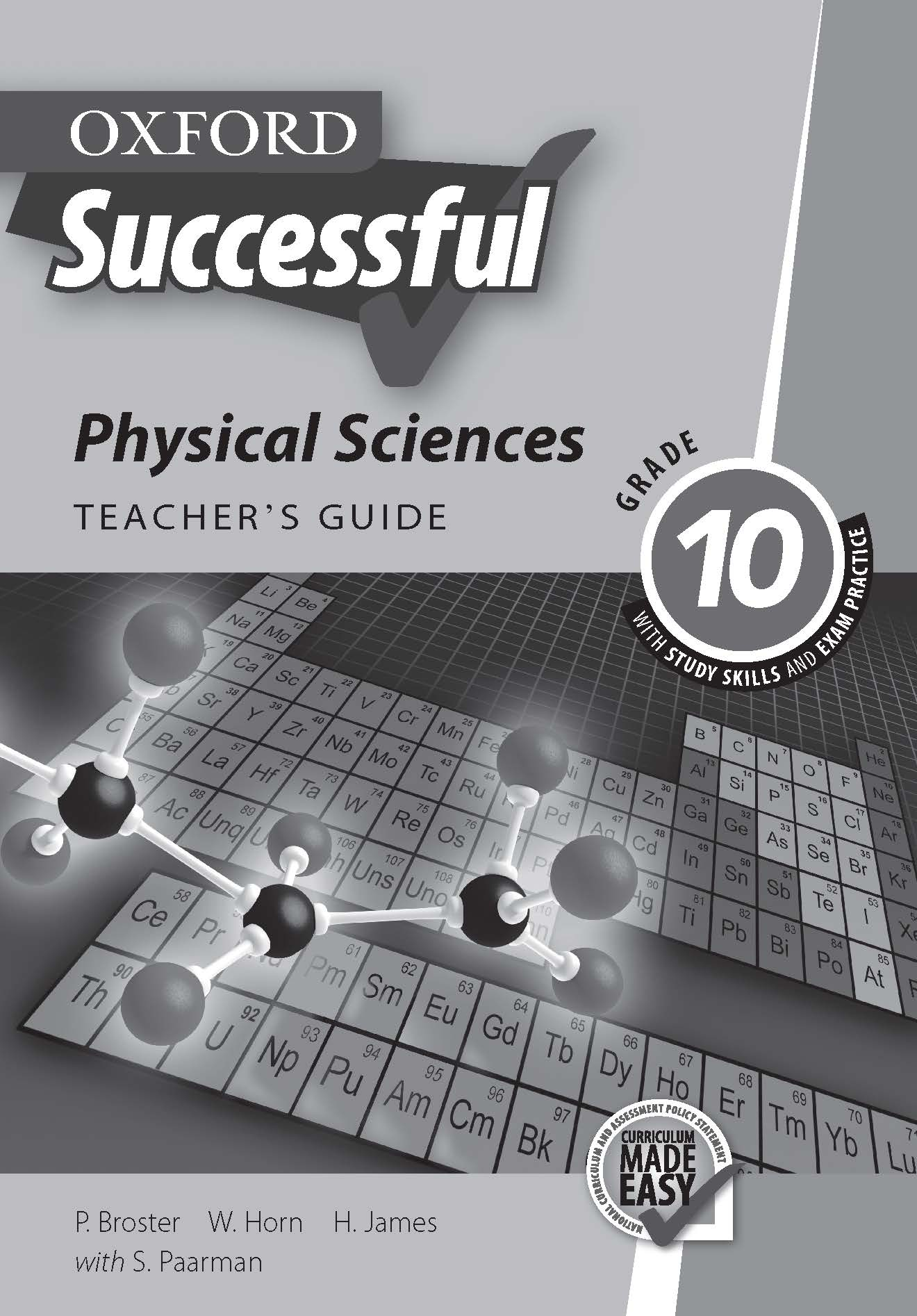 Oxford Successful Physical Sciences Grade 10 Teacher's Guide