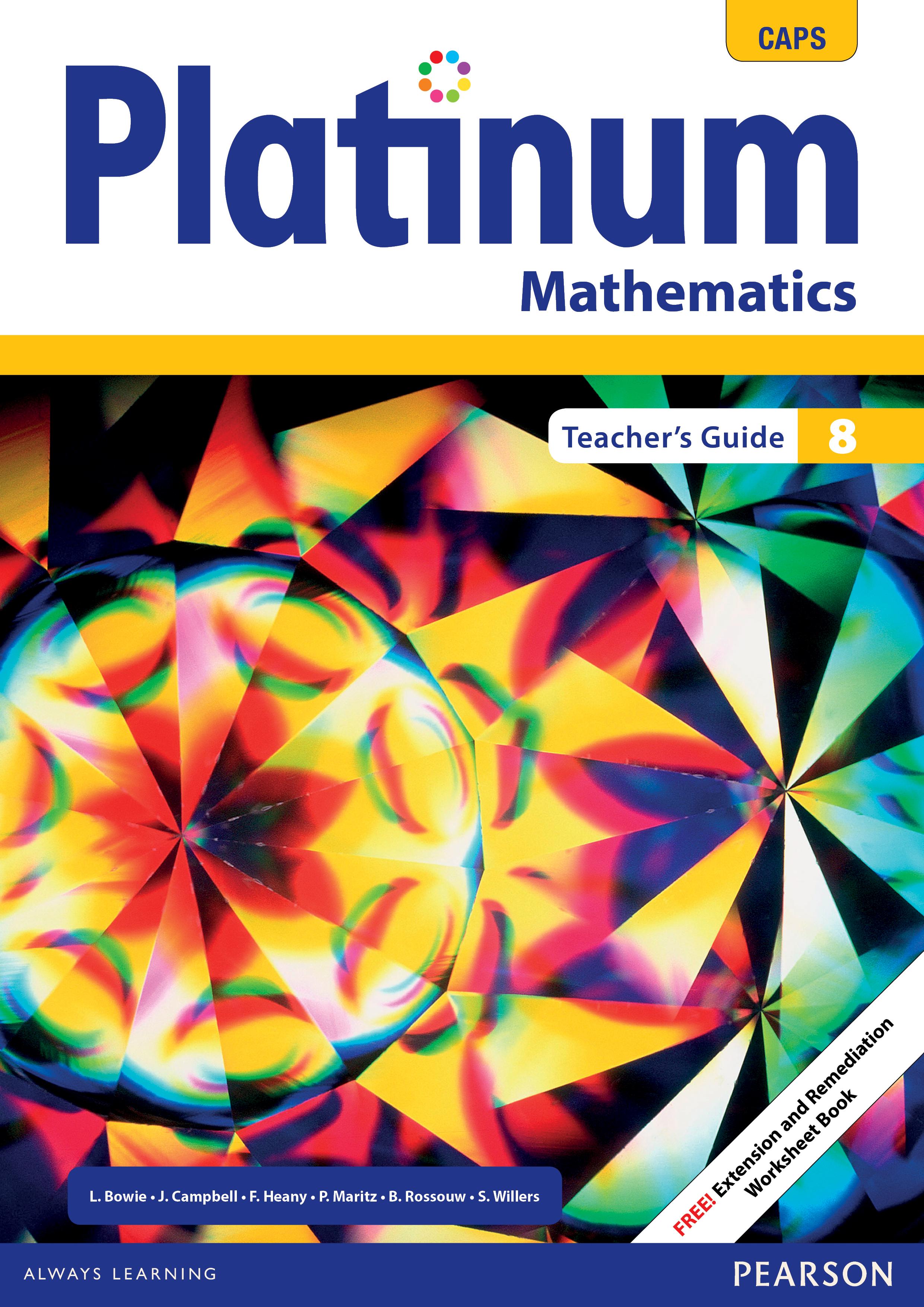 Platinum Mathematics Grade 8 Teacher's Guide ePDF (perpetual licence)
