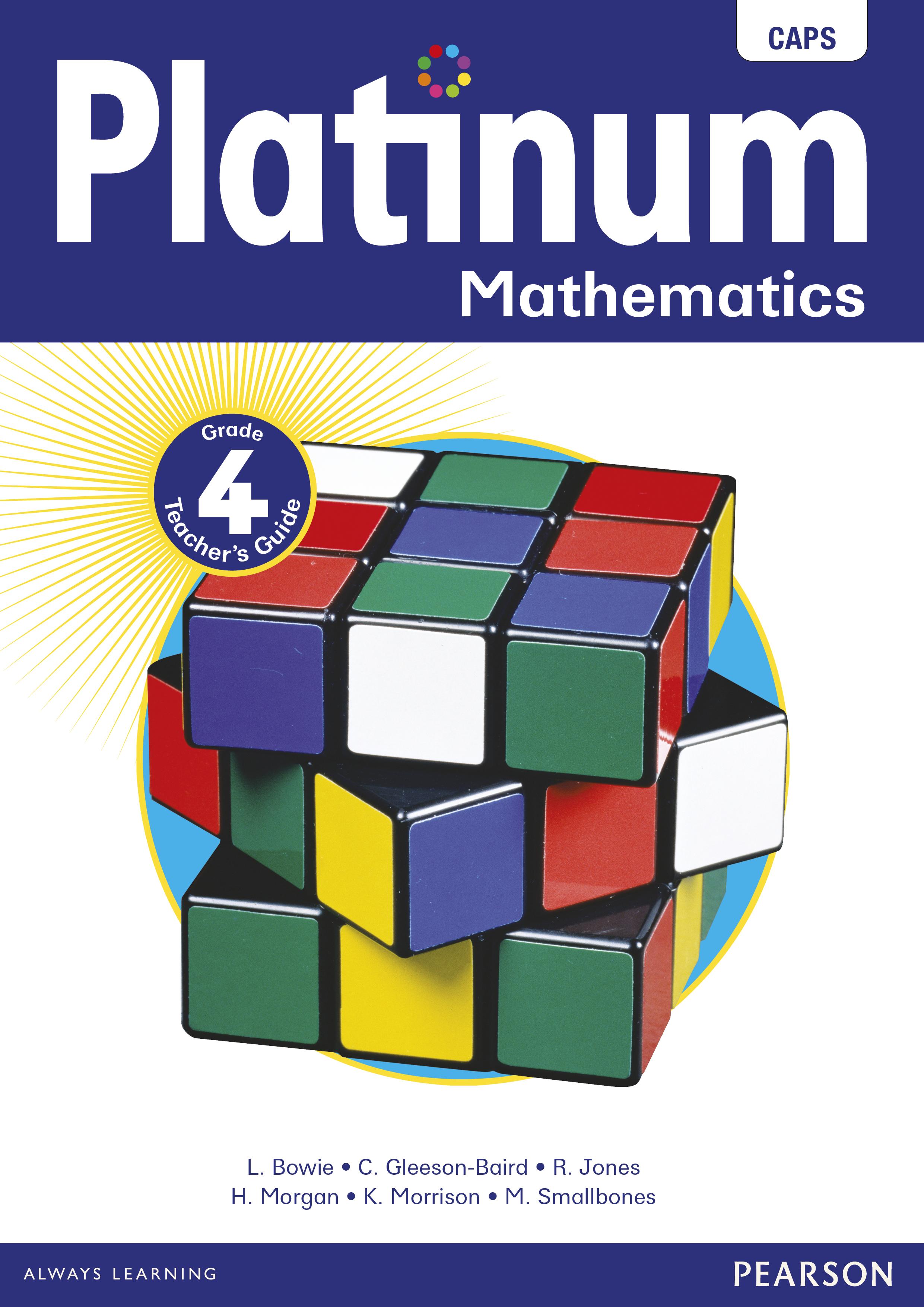 Platinum Mathematics Grade 4 Teacher's Guide ePDF (perpetual licence)
