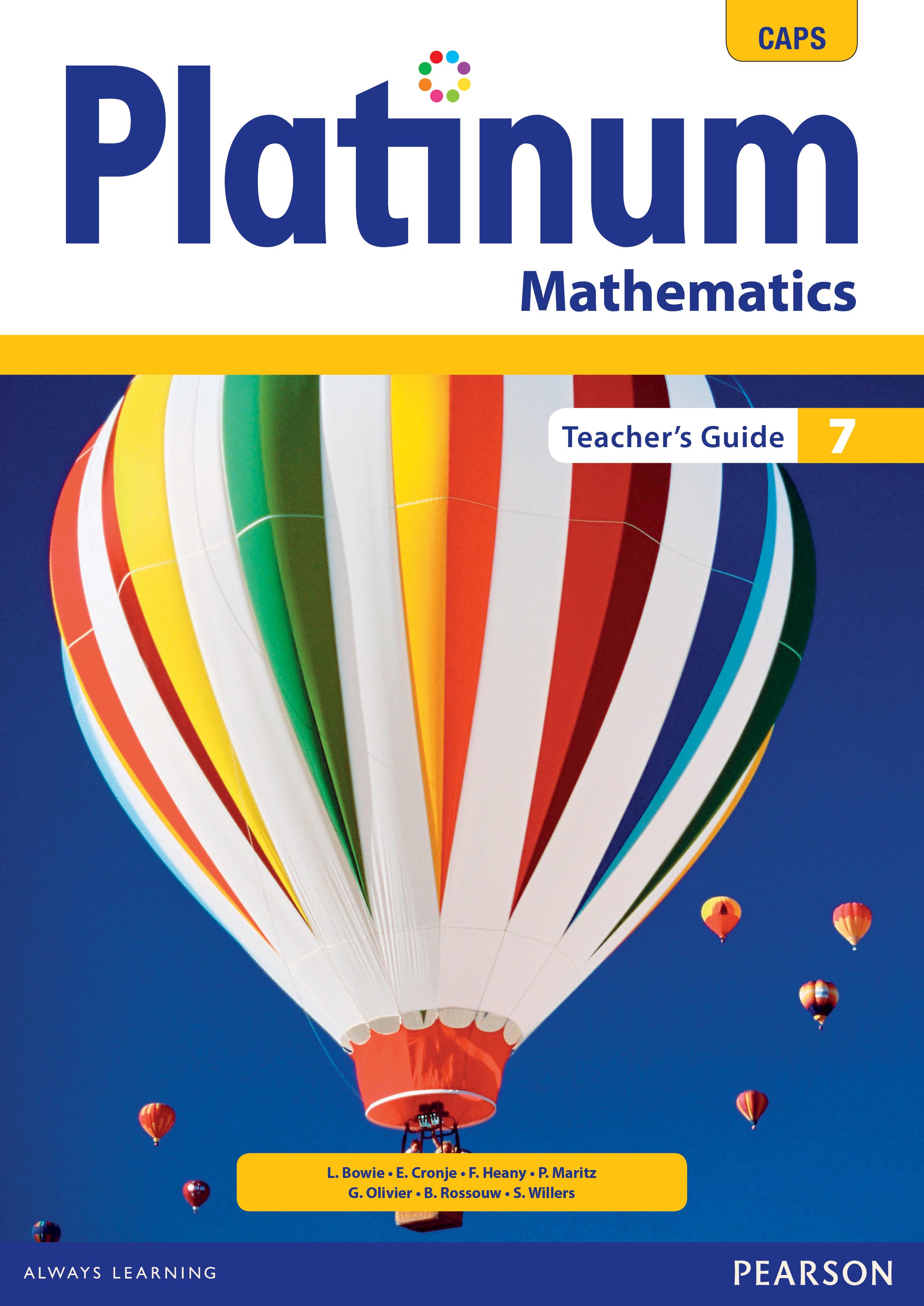 Platinum Mathematics Grade 7 Teacher's Guide ePDF (1-year licence)