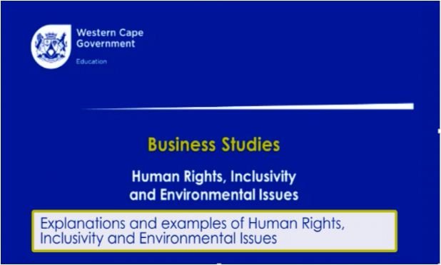 Grade 12 Business Studies – Business Roles: Human Rights