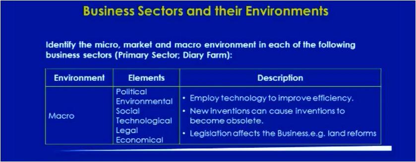 Grade 12 Business Studies – Business Environments: Business