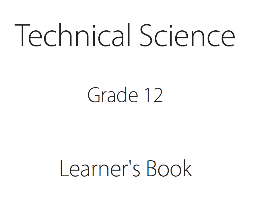technical sciences grade 12 science learner book