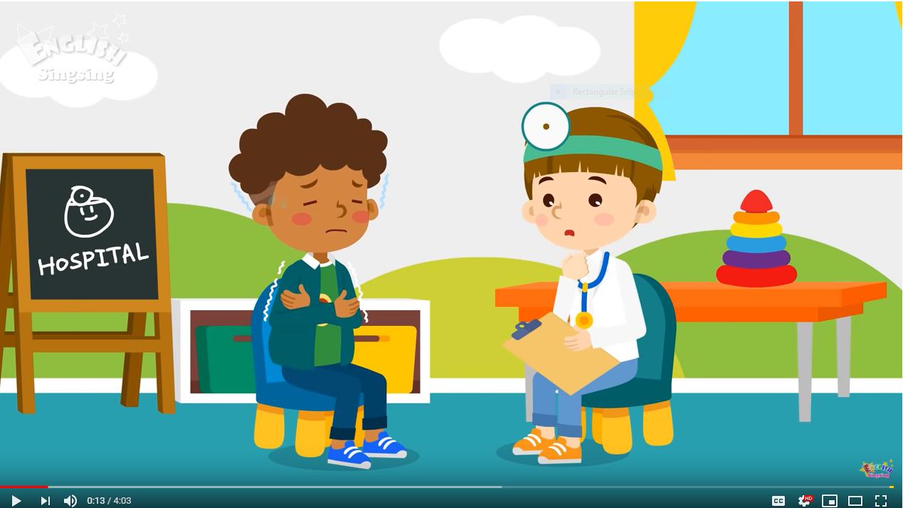 Kids vocabulary - Health Problems - hospital play - Learn ...
